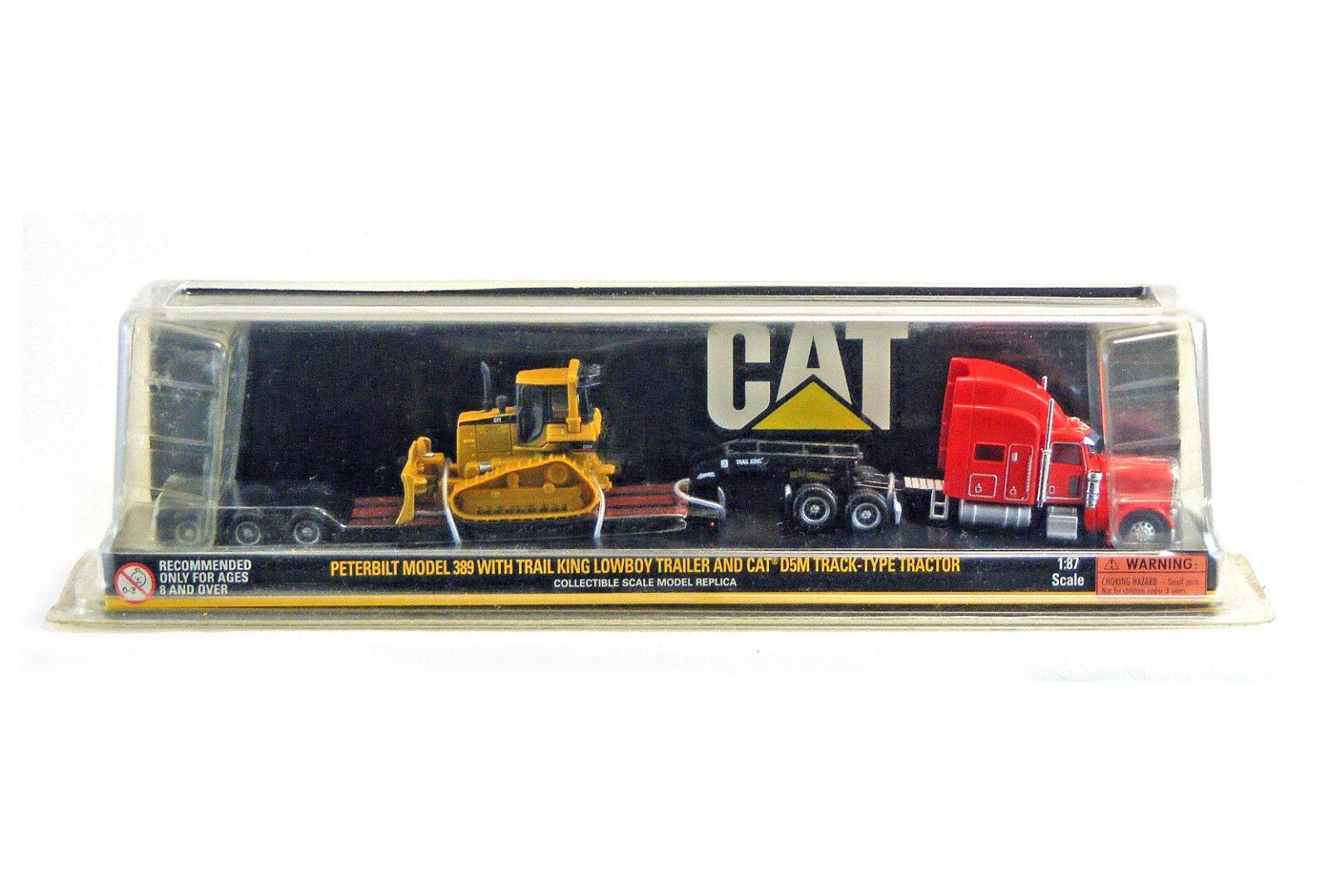 Norscot CAT 1 87 Scale 389 w Trail King Lowboy Trailer & CAT D5M Tractor