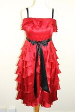Monsoon Collection Red Dress with  Black Tie Belt World Wide Free Postage