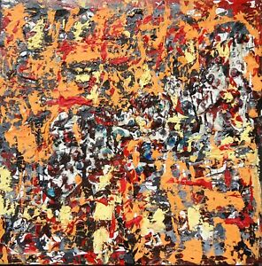 Original-Abstract-Expressionism-Painting-Modern-Art-Mixed-Media-Signed-Artwork