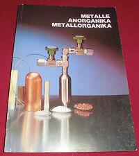 dachbodenfund katalog buch alfa ventron metall organika anorganika  1983 europ.