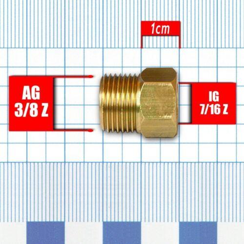 """Grifo de agua grifo adaptador 7//16/"""" para 3//8/"""" edelstahlflexschlauch 6,90 €//1stk"""