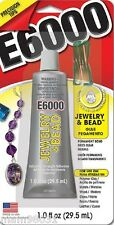 Craft Glue / Adhesive E6000 CLEAR PERMANENT Bond ~ 1 Fluid Oz w/ Precision Tips