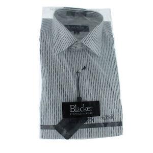 Nwt stanley blacker mens 100 cotton button down stripe for Mens 100 cotton button down shirts