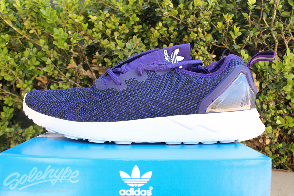 ADIDAS ZX FLUX ADV ASYMMETRICAL SZ 11 COLLEGIATE PURPLE S79053