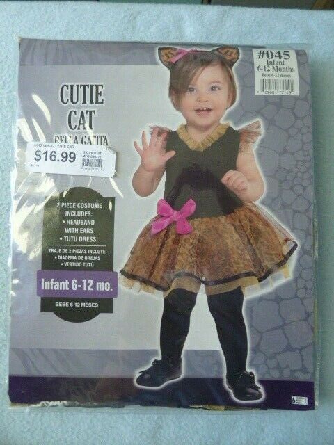 Cutie CAT Halloween Costume Infant Clothing 6-12 Months ~ NEW