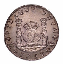 1739 8 Reales affondata Treasure dal Hollandia con COA #155-526
