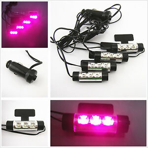 car suv interior charge purple pink 3 led floor decorative light atmosphere lamp ebay. Black Bedroom Furniture Sets. Home Design Ideas