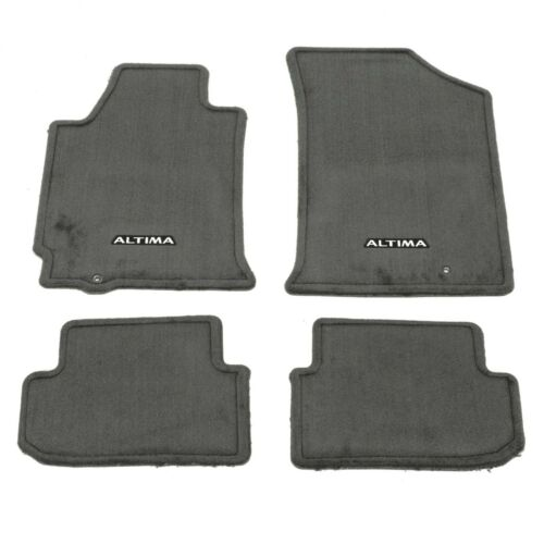 2009-2012 Nissan Altima Coupe Charcoal Carpeted Floor Mats Front /& Rear OEM NEW