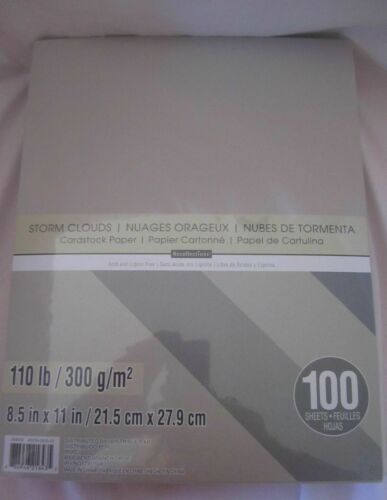 "RECOLLECTIONS CARDSTOCK Paper 8 1//2/"" x 11/"" 100 Sheets 110 lb HEAVYWEIGHT U PICK"