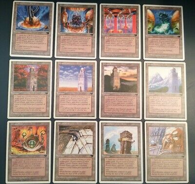 MAGIC THE GATHERING chronicles NM 3 card set URZA/'S MINE POWER PLANT TOWER