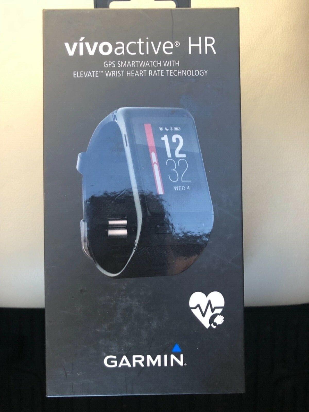 Garmin VivoActive HR GPS Smartwatch 010-01605-03, NEW IN SEALED BOX