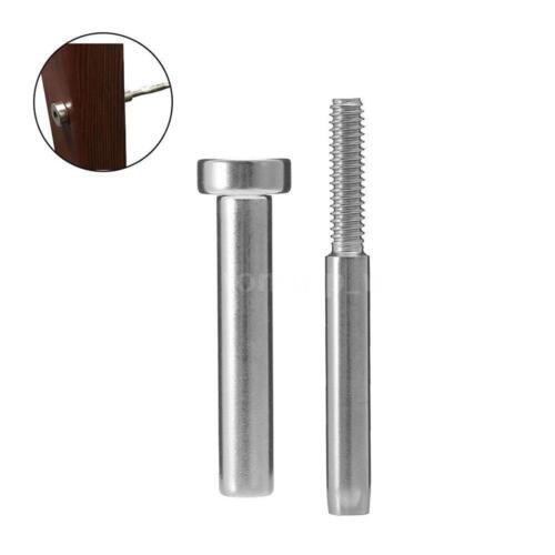 """3//16/""""Cable Railing Stainless Steel Invisible Receiver Swage Stud End Fitting"""