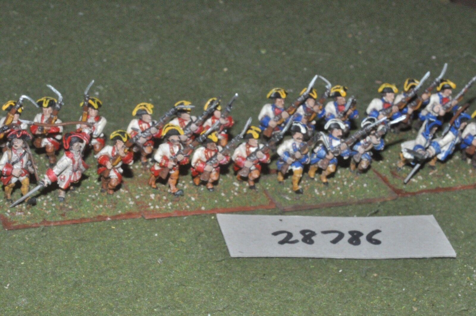 25mm 7YW   french - regt. 24 figures - inf (28786)