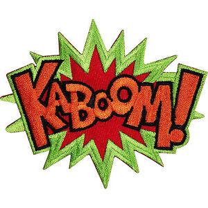 KABOOM-Embroidered-Iron-Sew-On-Patch-T-Shirt-Bag-Badge-Batman-X-MEN-Comic-Word