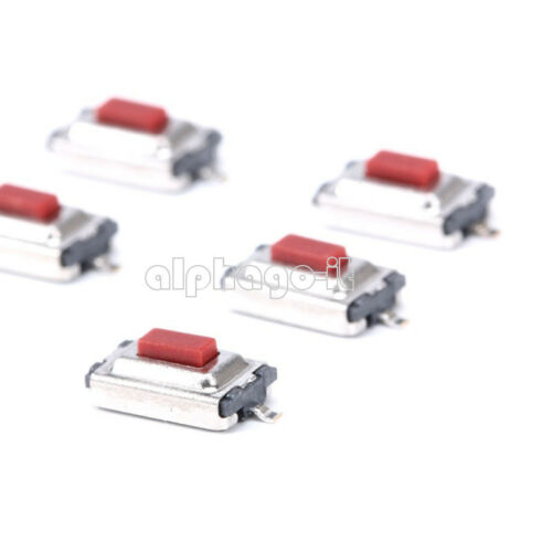 100pcs Red 3X6X2.5mm Tactile Push Button Switch Tact Switch Micro Switch 2 Pin
