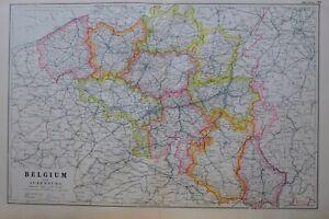 1919-MAP-BELGIUM-amp-LUXEMBURG-BRUSSELS-ANTWERP-LIMBURG-LIEGE-NAMUR-FLANDERS