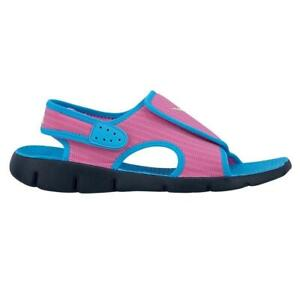 low priced 54c1e 37a7e Image is loading Kids-NIKE-SUNRAY-ADJUST-4-GS-PS-Pink-