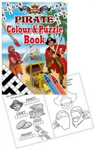 Job Lot of 288 PIRATES COLOUR and PUZZLE BOOK Wholesale Bulk Buy Activity