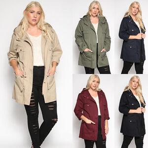 f6a6ca9b9b3 TheMogan Women s Plus Size Oversized Anorak Jacket Utility Military ...