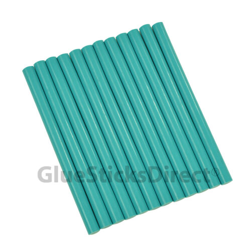 "GlueSticksDirect Teal Colored Glue Sticks mini X 4/"" 12 sticks"