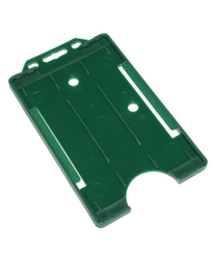 Green Vertical ID Card Badge Holder Holds All ID Cards