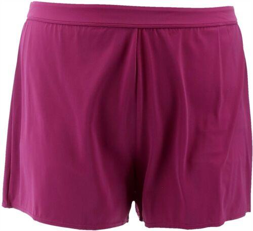 Denim /& Co Beach Swim Shorts Berry 20W NEW A303956