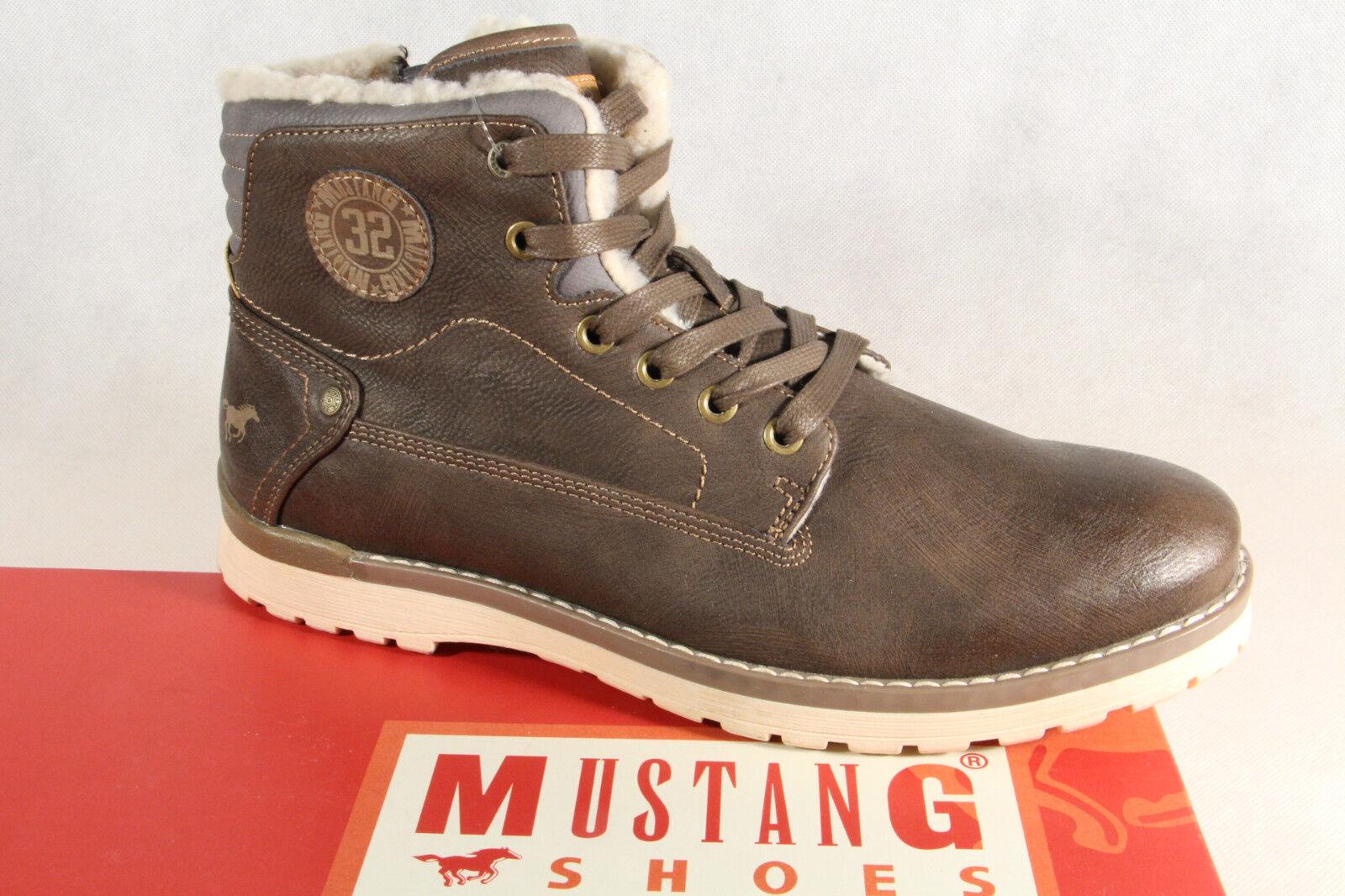 Mustang botas botas de Cordón botas de Invierno Sp. Marrón 4092 Nuevo