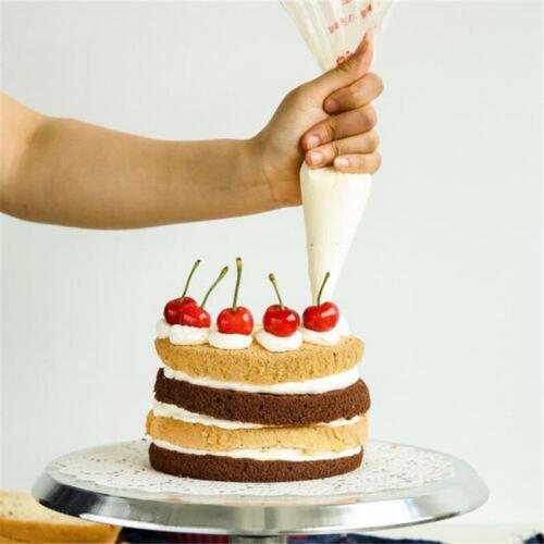 100pcs Fondant Cake Cupcake Pastry Decorating Icing Piping Bags Nozzles Tips Bag