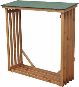 Brennholzregal außen  Kaminholzregal draußen außen aus Holz 140cm Kaminholzständer ...