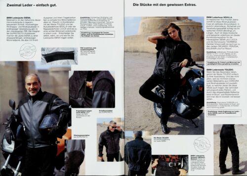 BMW Motorrad Fahrerausstattung Active Line Prospekt 1996 brochure Broschüre bike