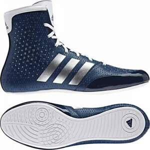 Details about Adidas KO Legend Boxing Shoes Boots Blue & White Lace Up
