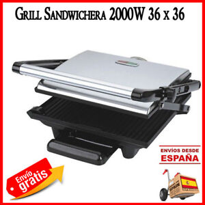 SANDWICHERA-GRILL-PANINI-ASADOR-ELECTRICO-2000W-ANTIHADERENTE-PLACA-METALICA