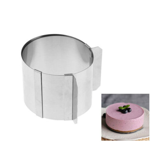 Acier inoxydable circulaire Mousse Cake Anneau réglable mousse Cookie Moule Pâtisserie ~