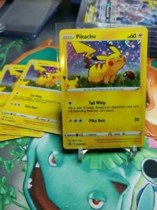 New Listing Pokemon Pikachu General Mills 25th Anniversary Stamped Holo Foil Promo Card MINT
