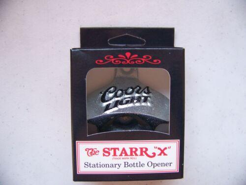 COORS LIGHT beer Starr X wall mount bottle opener NEW IN BOX