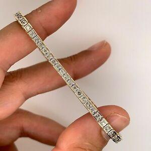 7 00 Carat Princess Cut Vvs1 Diamond Tennis Bracelet 14k