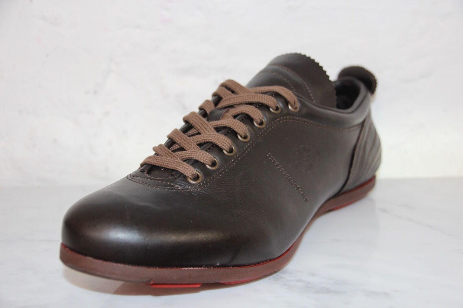PANTOFOLA D´gold PDO Sneaker SL17U Leder brown super Star extra Gr.45 OVP