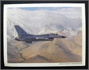 General-Dynamics-F-16-Fighting-Falcon-USAF-Fighter-1970-039-s-8x10-Tech-Photo
