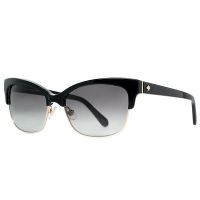 Kate Spade SHIRA/S W63/Y7 Black Gold Vintage Cat-Eye Sunglasses