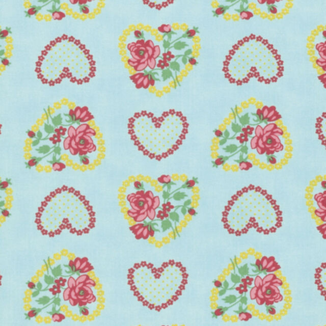 Verna Mosquera Love /& Friendship PWVM170 Love Notes Sky Fabric By Yd