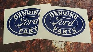 Ford Stickers Retro Style GENUINE FORD PARTS Sticker Decals VINTAGE STYLE