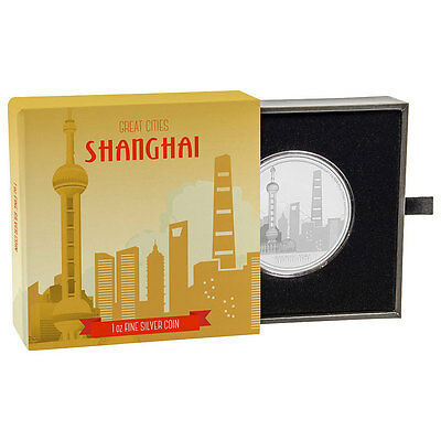 Shanghai 1 Oz 2017 Niue Great Cities Silver Proof $2 Coin W/ogp Sku47313