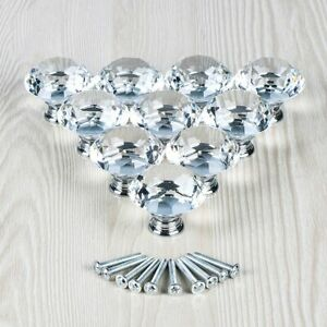 10Pcs-Crystal-Glass-Clear-Door-Knob-Drawer-Cabinet-Furniture-Kitchen-Handle-Pull
