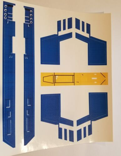 No Need To Cut Vintage Star Wars X-Wing Blue Squadron Replacement Sticker