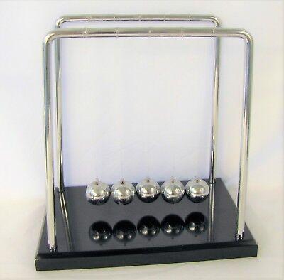 "Newton Cradle Large Balance Ball Motion Law Pendulum Physics Desktop Demo 7.25/"""