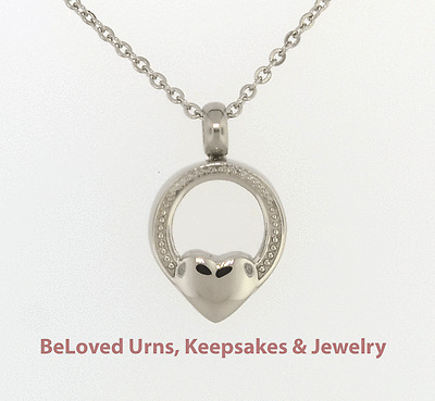 Funnel /& Chain Intertwined Heart Cremation Jewelry Pendant Keepake Memorial Urn