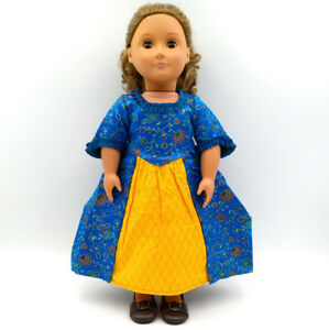 New American Girl Felicity Hair Ribbons White Meet /& Blue Christmas~No Dress