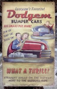 Dodgem-Bumper-Cars-Spin-Em-Bump-Em-Dodge-Em-Vintaged-Metal-Sign-10-034-X-16-034