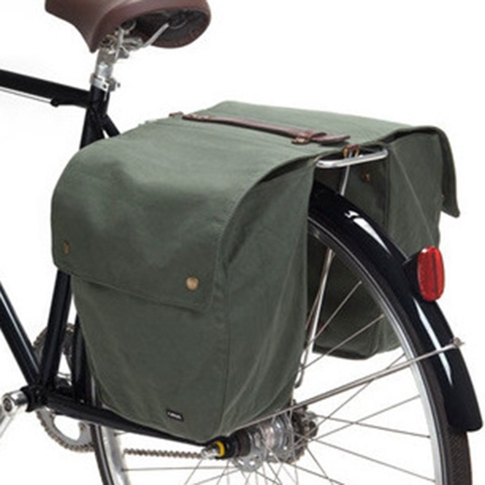 NEW  Linus Bike Pannier Roll-Up Market  Bag - Army Green  outlet online store