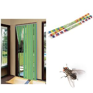 Details about Plastic Door Striped Curtain Blind Screen Doorways Durable  Insect Fly Stopper UK